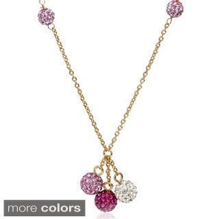 Molly Glitz 14k Goldplated Children's Crystal Ball Cluster Necklace