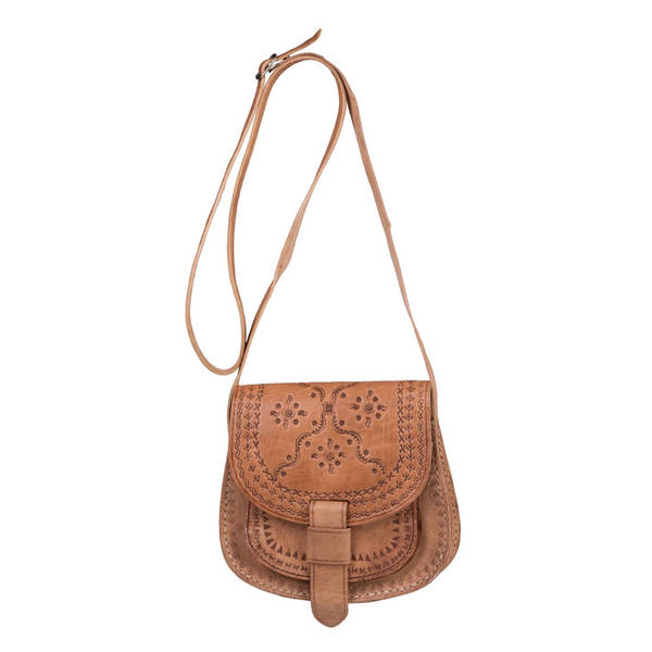 2ce3e6df3e Shop Handmade Zagora Leather Cross-body Bag (Morocco) - On Sale ...