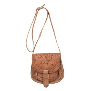 Handmade Zagora Leather Cross-body Bag (Morocco)