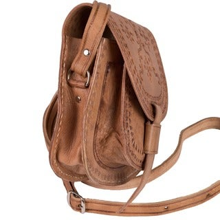 Zagora Leather Cross-body Bag (Morocco)