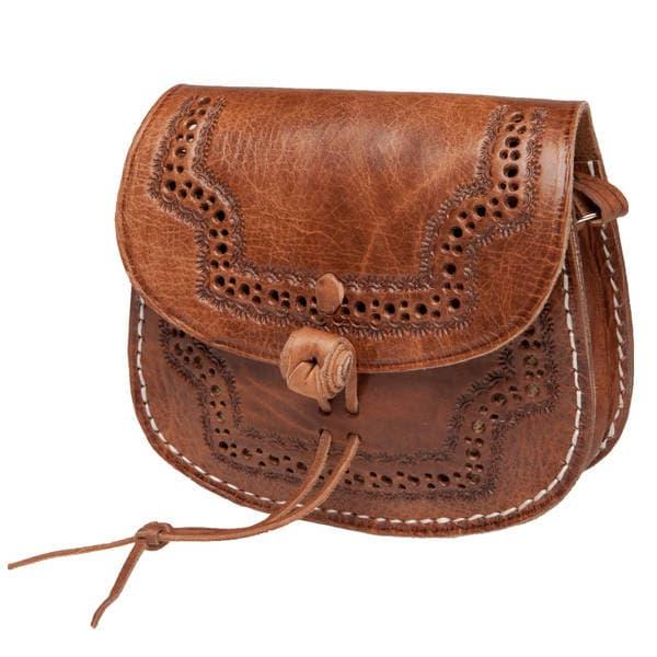 Handmade Karima Leather Cross-body Bag (Morocco)