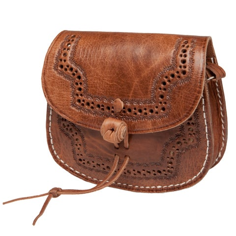 Handmade Karima Leather Cross-body Bag (Morocco)