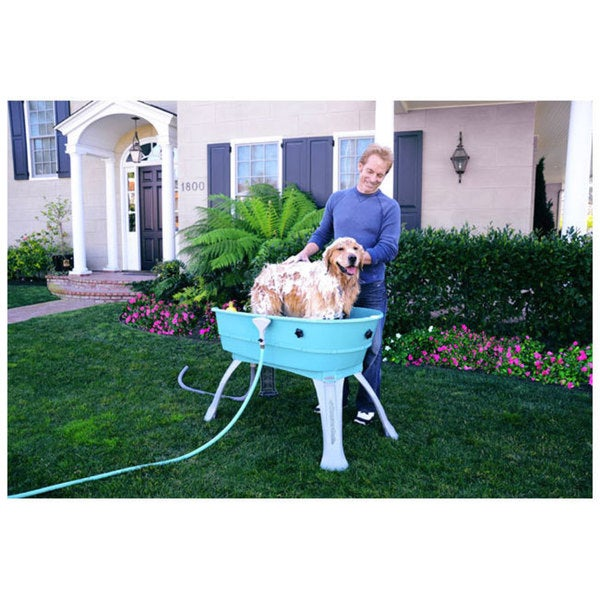 Booster Bath Elevated Pet Bathing Station   Free Shipping Today    Overstock.com   15678294