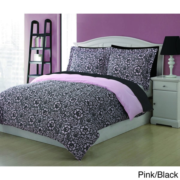 Jeanette Lace 3-piece Comforter Set