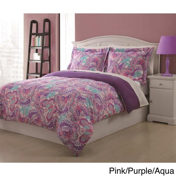 Paisley Butterfly 3-piece Comforter Set