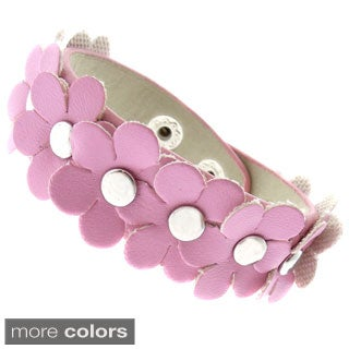Molly and Emma Imitation Leather Children's Flower Bracelet (2 options available)