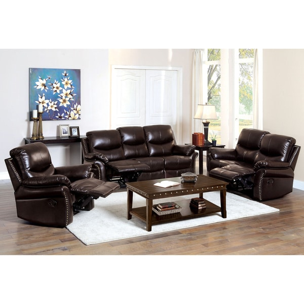 Recliner Sofa Sets: Shop Furniture Of America Jenington Traditional 3-piece