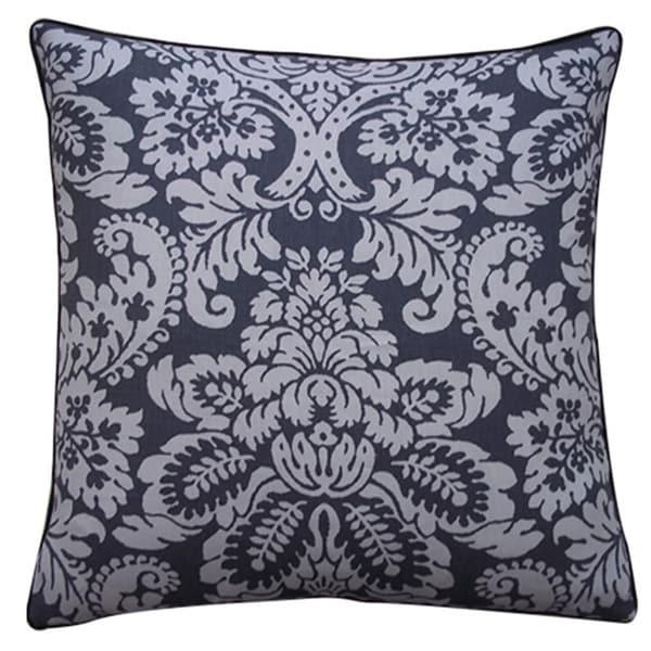 "Handmade Hibiscus Pewter Pillow - 20"" x 20"""