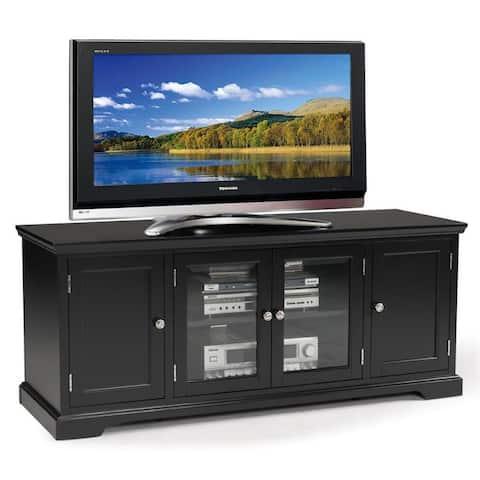 Black Hardwood 60-inch TV Stand