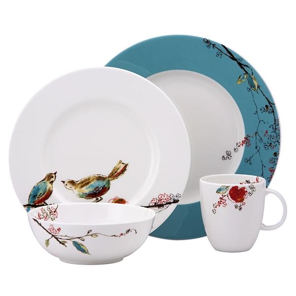 Lenox u0026#x27;Chirpu0026#x27; 4-piece Dinnerware Place Setting  sc 1 st  Overstock.com & Lenox u0027Chirpu0027 4-piece Dinnerware Place Setting - Free Shipping Today ...