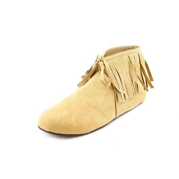Funtasma Men's 'Indian-50' Tan Flat Fringe Ankle Boots
