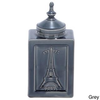 Paris Artisan 14-inch Ceramic Crackled Decorative Accent Jar (2 options available)