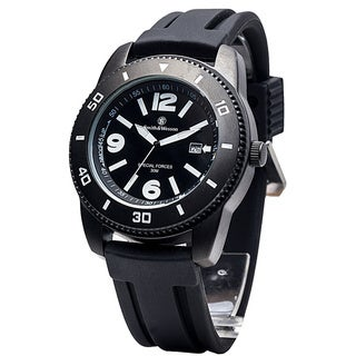 Smith & Wesson Men's Paratrooper Black Rubber Strap Watch