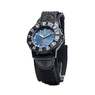 Smith & Wesson Men's Police Black Nylon Strap Watch