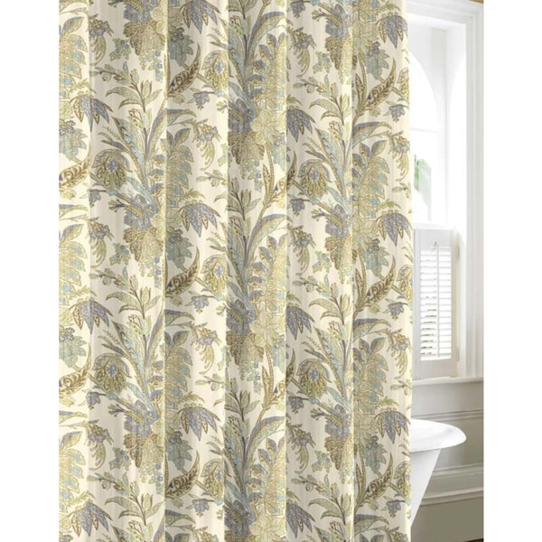Tommy Bahama Bimini Blue Cotton Shower Curtain
