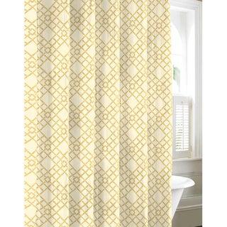 Tommy Bahama Bamboo Trellis Cotton Shower Curtain Free