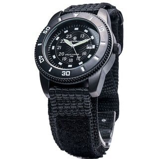 Smith & Wesson Men's Commando Black Nylon Strap Watch