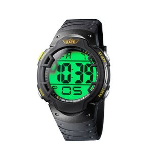 Uzi Men's The Guardian Black Rubber Strap Watch
