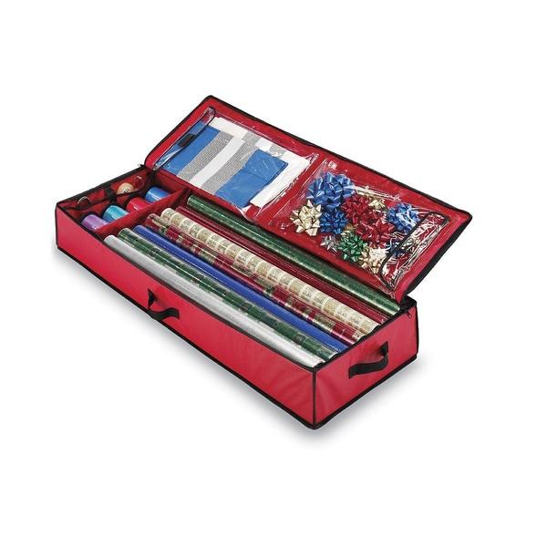 christmas giftwrap storage bag by whitmor
