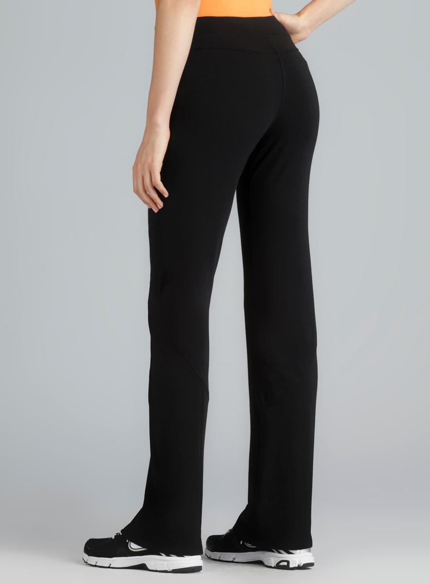 Central Park Black Exposed Seam Straight Leg Performace Pant - Thumbnail 1