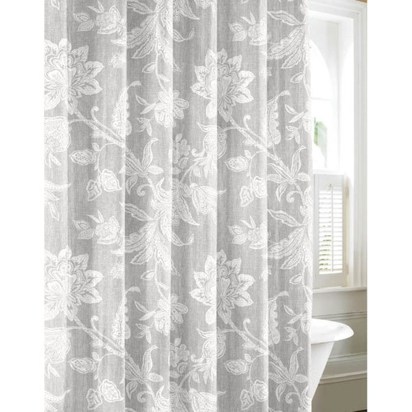 Tommy Bahama Bali Grey Cotton Shower Curtain Free Shipping On Orders Over 45