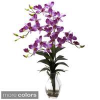 Nearly Natural Dendrobium Orchid Vase Arrangement Decorative Plant
