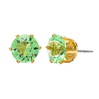 Alexa Starr 8mm Crystal Stud Earrings Made with Austrian Crystal Elements (Set of 6)