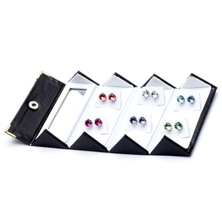 Alexa Starr 6-pair 8 mm Crystal Stud Earrings Made with Austrian Crystal Elements