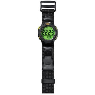 Uzi Men's The Guardian Black Nylon Strap Watch
