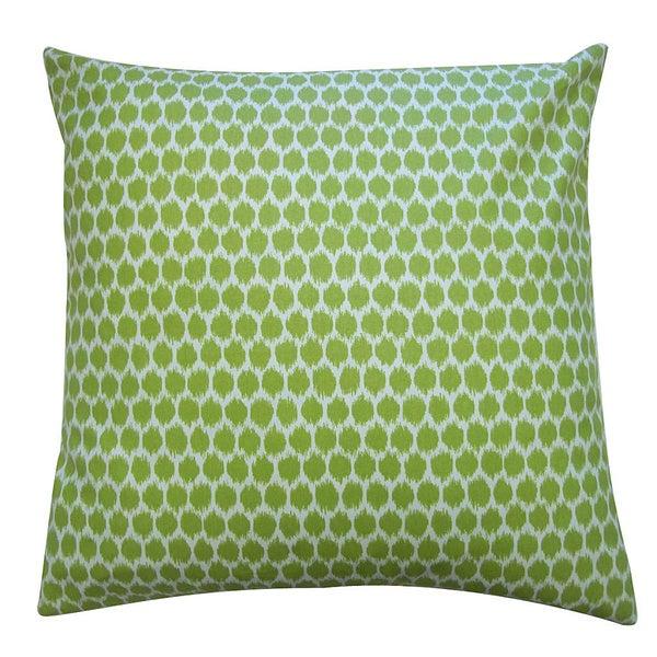"""Handmade Splotch Lime Pillow - 20"""" x 20"""""""