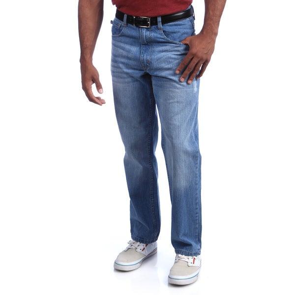 Akademiks Men's 'Rolodex' Light Indigo Denim Jeans