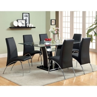 Furniture of America Resk Contemporary White 7-piece Dining Table Set