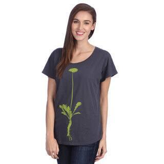 Organically Grown Women's 'Dandelion Virtue' Blue Dolman Sleeve Top|https://ak1.ostkcdn.com/images/products/8373054/8373054/Organically-Grown-Womens-Dandelion-Virtue-Blue-Dolman-Sleeve-Top-P15678619.jpg?impolicy=medium