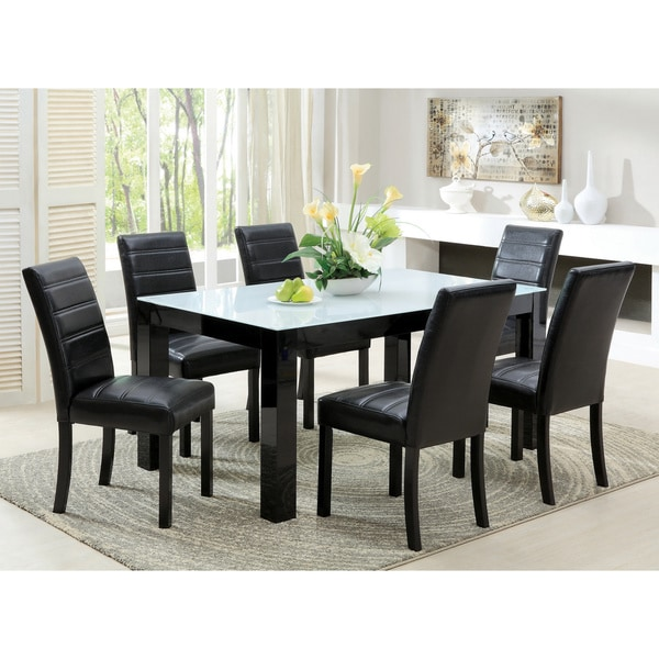 Furniture Of America Dubelle 7 Piece Formal Dining Set: Furniture Of America Magnolia Blithe Contemporary 7-piece