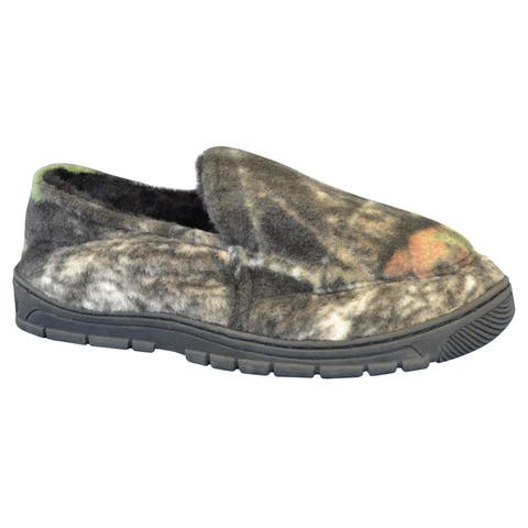 Muk Luks Mens Camouflage Clog Slippers