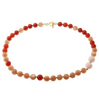 Michael Valitutti Gold over Silver Peach Moonstone, Carnelian and Morganite Necklace https://ak1.ostkcdn.com/images/products/8373100/8373100/Michael-Valitutti-Gold-over-Silver-Peach-Moonstone-Carnelian-and-Morganite-Necklace-P15678649.jpg?impolicy=medium