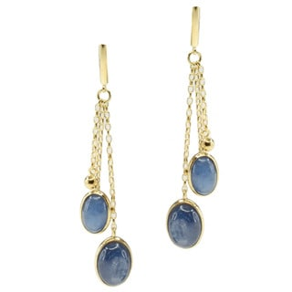 Michael Valitutti Gold over Silver Kyanite Earrings