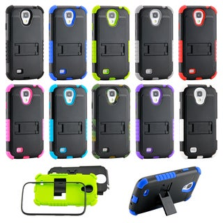 Gearonic Hybrid Silicone Stand Case Cover for Samsung Galaxy S4 i9500
