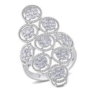 Miadora 14k White Gold 3/4ct TDW Diamond Ring (G-H, SI1-SI2)
