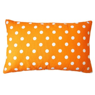 Jiti 12 x 20-Inch Dot Orange Down Lumbar Pillow