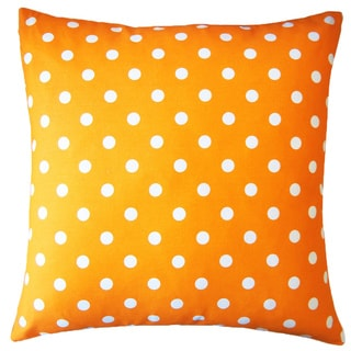 Orange 20-Inch x 20-Inch Dot Pillow