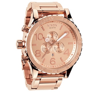 Nixon Men's '51-30 Chrono' Rose-goldtone Watch