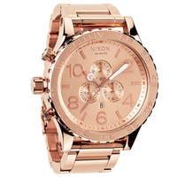 Nixon Men's '51-30 Chrono' Rose-goldtone Watch