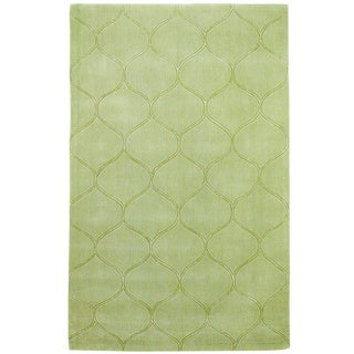 Domani Cultivated Amina Tile Celadon Green Hand-tufted Wool Rug (8' x 10')