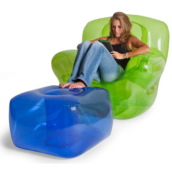 Inflatable Lawn Furniture: Shop Smoke Black Inflatable Bubble Ottoman
