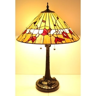 Tiffany-style Spring Blossom Table Lamp