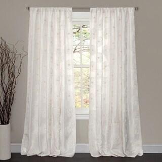 Lush Decor Samantha White 84-inch Curtain Panel