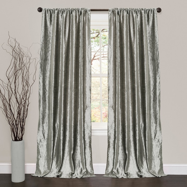 Lush Decor Velvet Dream Silver 84 Inch Curtain Panel Pair