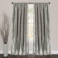 Lush Decor Velvet Dream Silver 84-inch Curtain Panel Pair