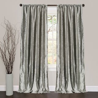 Lush Decor Velvet Dream Silver 84-inch Curtain Panel Pair